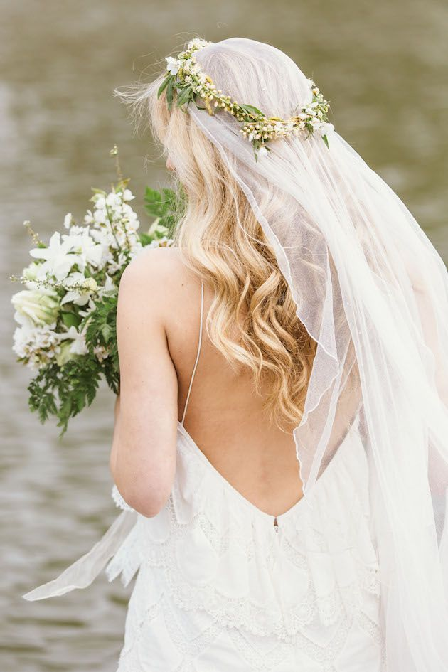 Stunning veil, dress, florals, styling and photography - a must see shoot from Rebecca Goddard Photography & Katrina Otter Weddings
