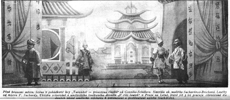 "Scéna z pohádkové hry ""Turandot - princezna čínská"""