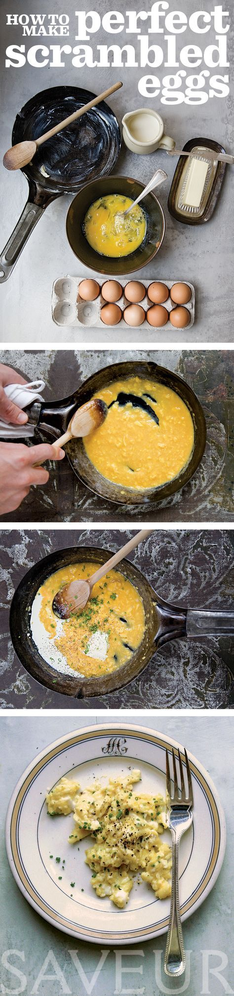 I already thought I made perfect scrambled eggs! But it sounds good, Ill definitely have to try it.. Perfect, creamy-soft scrambled eggs in 4 simple steps.