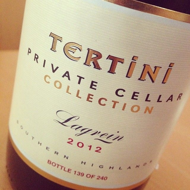 Great find of a wine from Southern Highland thanks to the team at @biotadining! A Tertini Lagrein 2012 - only 20 cases (240 bottles) produced. Www.tertiniwines.com.au #aussiewine #drinkstagram #nswwine #instagood #wine