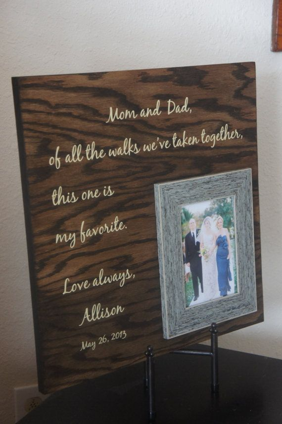 Wedding Gifts For Parents Photo Frames : ... Wedding, Frames, Bride Gifts, Parents Mom, Parent Gifts, Parents Gifts