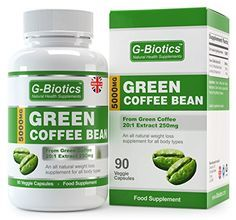 G-Biotics Extraits de Graine de Café Vert Naturelle ~ Supplément EXTRA HAUTE QUALITE