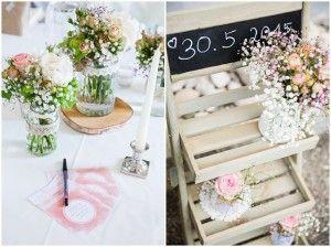 Great Liebevolle DIY Gartenhochzeit mit Inspirationen von uThe little Wedding Corner u von Sarah Katharina Tischdeko HochzeitHochzeit DekoVintage