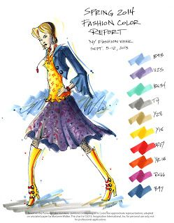 New York Fashion Week - Spring 2014 Fashion Color Report by Copic product specialist Marianne Walker