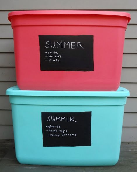Standard Storage Bins Which Are Typically Used For Storing Hand Me Downs  And Seasonal