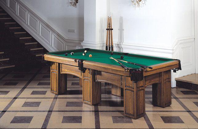 Pool table, Billard, Bilard, stół bilardowy. Klasyczny stół bilardowy.  Wykonany z litego drewna dębowego, który daje mu swoją solidność i stabilność. Texas idealnie pasuje do dużych pomieszczeń klasycznie wyposażonych, w których zajmuje on najważniejsze miejsce. Pięknie prezentuje się w stylowych pokojach, restauracjach, hotelach i pensjonatach.