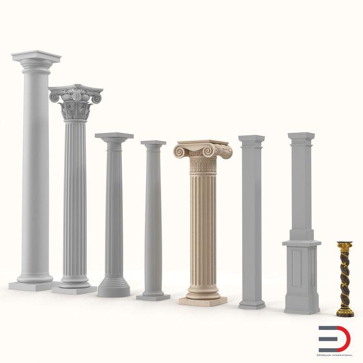 Columns Collection 3d models #columns #3d #model http://www.turbosquid.com/3d-models/3ds-columns-2/963207?referral=3d_molier-International