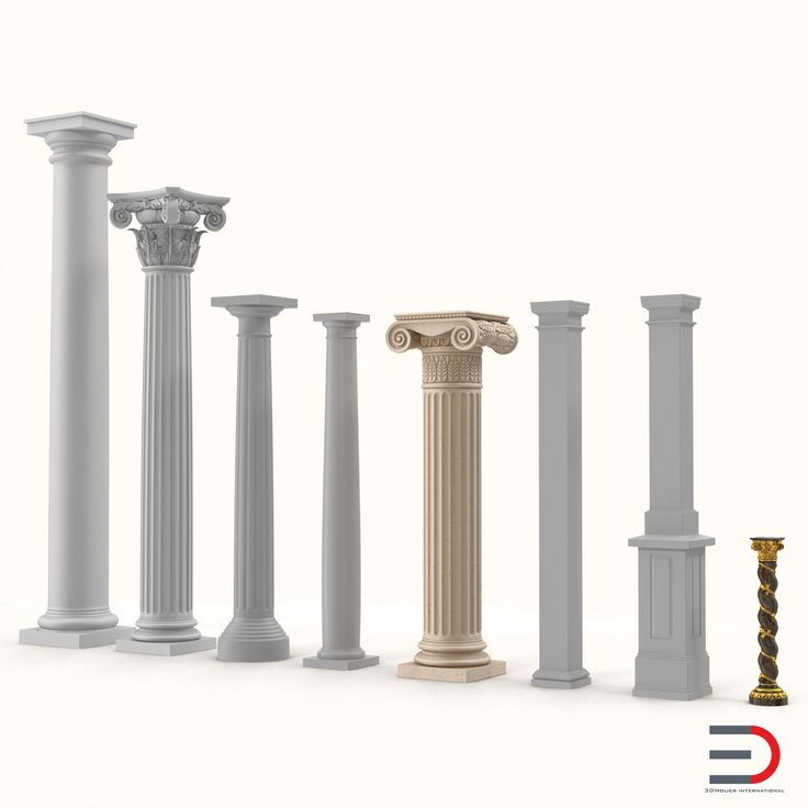 Columns Collection 3d models #columns #3d #model http://www.turbosquid.com/3d-models/3ds-columns-2/963207?referral=3d_molier-International