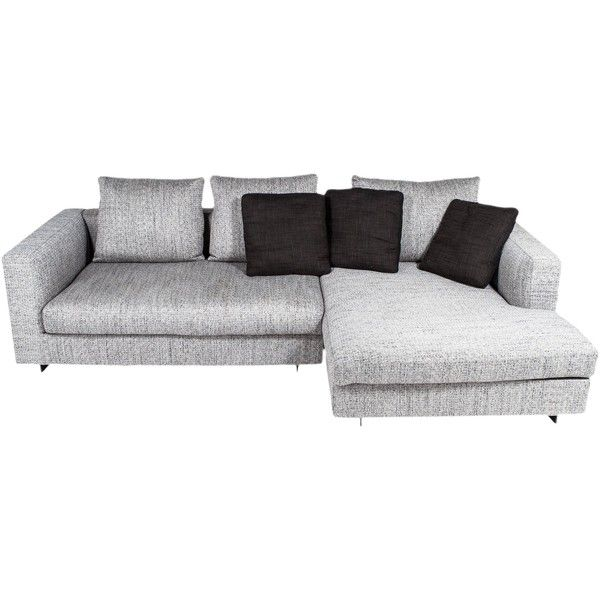 Pre-owned Camerich Cloud Sectional Sofa ($1,995) ❤ liked on Polyvore featuring home, furniture, sofas, grey, oversized couch, woven furniture, second hand sofas, oversized furniture and second hand furniture