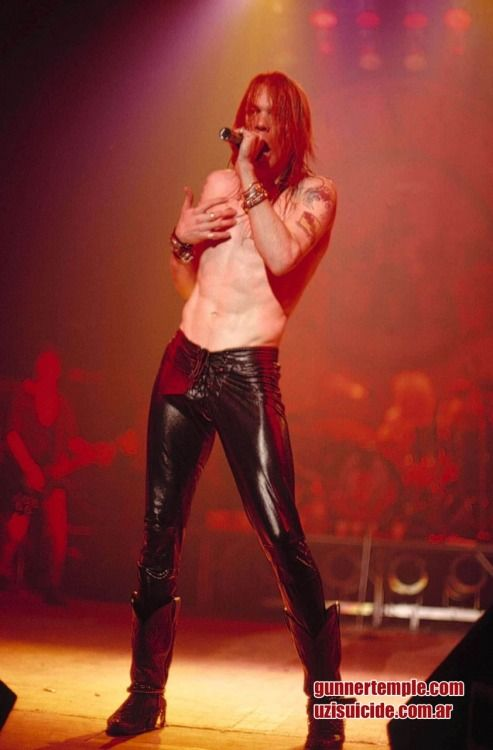 Axl Rose of Guns N' Roses, late '80s.