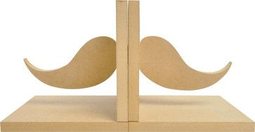 Beyond The Page MDF Moustache Bookends eclectic-accessories-and-decor
