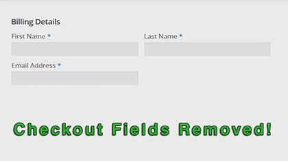 WooCommerce: How To Easily Remove The Checkout Fields!