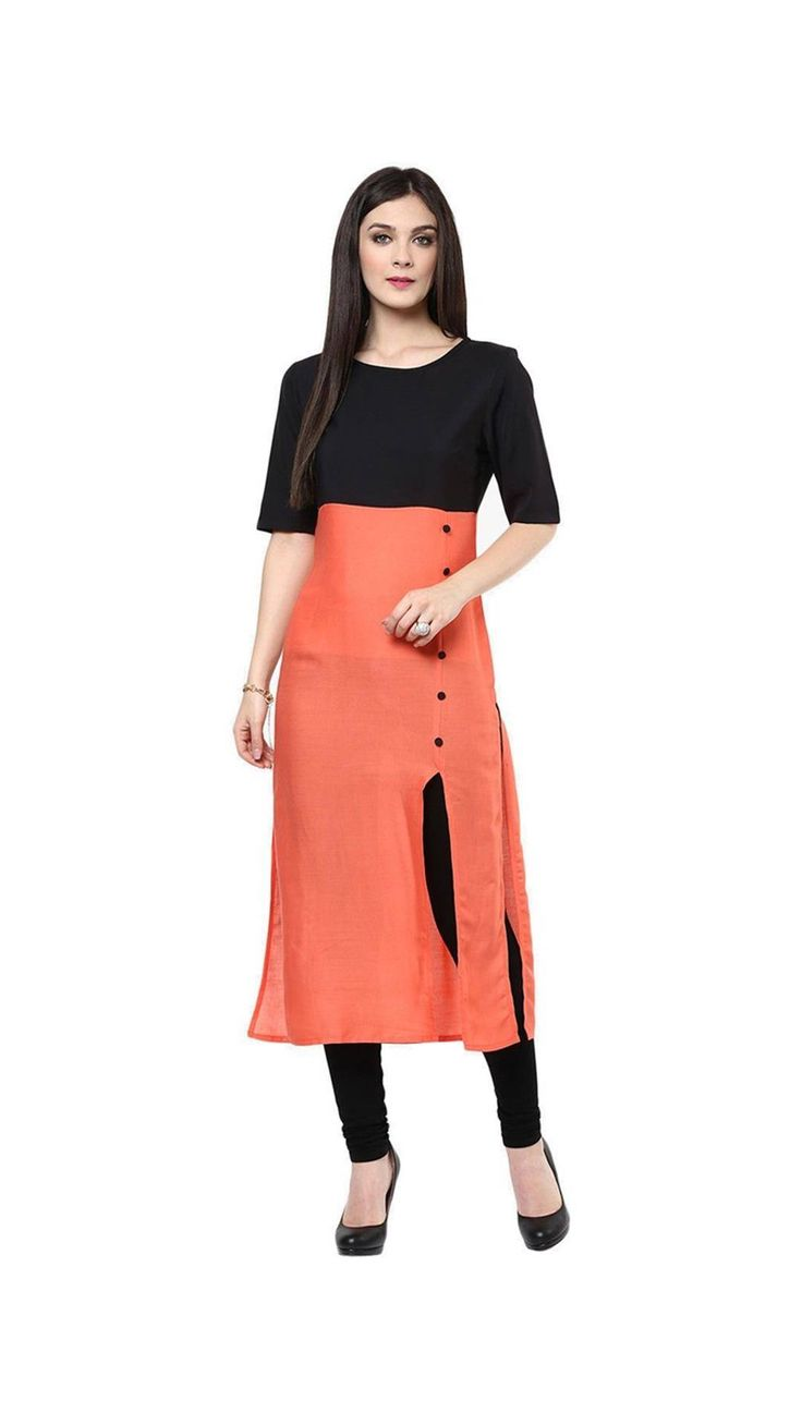 Buy Saiveera New gorgeous Orange and Black Cotton Kurti Online at Low Prices in India - Paytm.com Saiveera Fashion is Popular brand in Women Clothing in Surat. Saiveera Fashion is Produce many kind of Women's Clothes like Anarkali Salwar Suits, Straight Salwar Suits, Patiala Salwar Suits, Palazzos, Sarees, Leggings, Salwars, Kurtis, etc. For any Query Contact/Whatsapp on +91-8469103344.