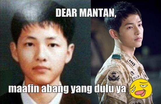 """Tidak hanya masyarakat Indonesia saja, ternyata aktor tampan Korea juga dilanda deman meme """"Dear mantan, maafin aku yang dulu"""". Metamorfosa wajah mereka ketika..."""