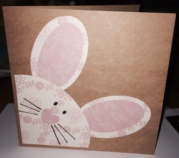 Bunny card I made