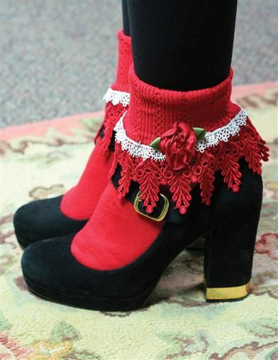 Although I want red in my dress so I can do red shoes or socks.