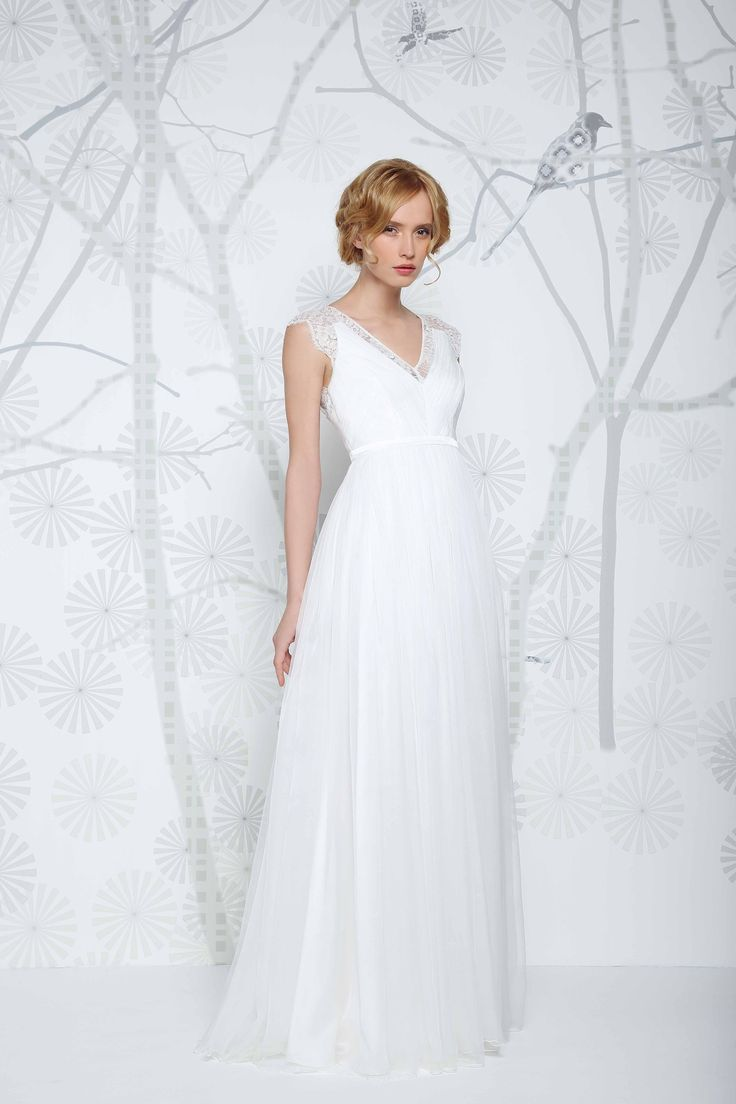 Erica- the perfect combination of silk and lace. Absolutely gorgeous. Available now from Caroline Clark Bridal Boutique, Droitwich, 01905799474.