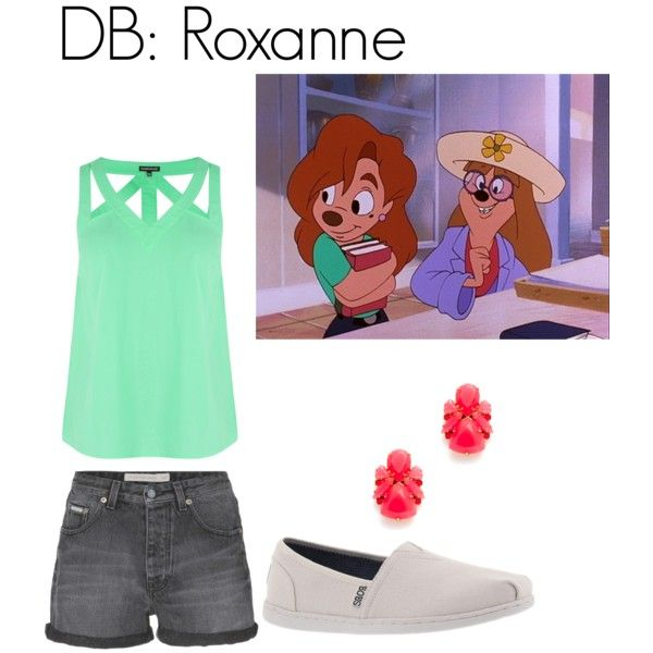 DB: Roxanne from a goofy movie by disneybounder365 on Polyvore featuring polyvore, fashion, style, Warehouse, Calvin Klein Jeans and Skechers