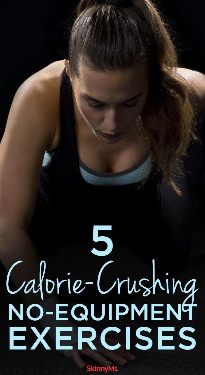 5 Calorie-Crushing No-Equipment Exercises! #skinnyms