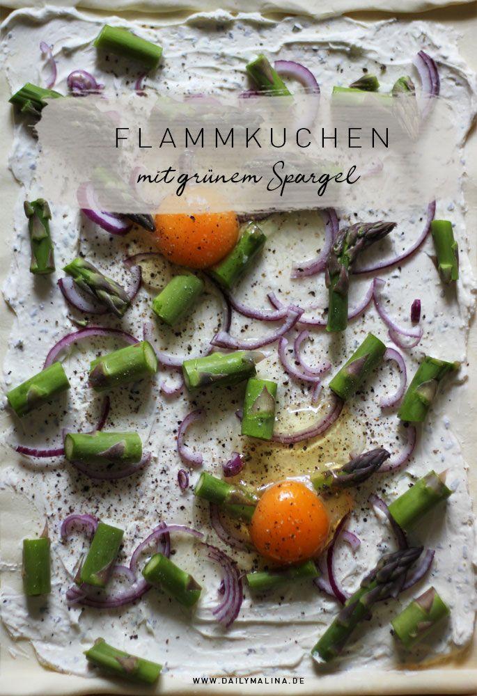 Flammkuchen Mit Grunem Spargel Und Ei Leckere Gesunde Rezepte