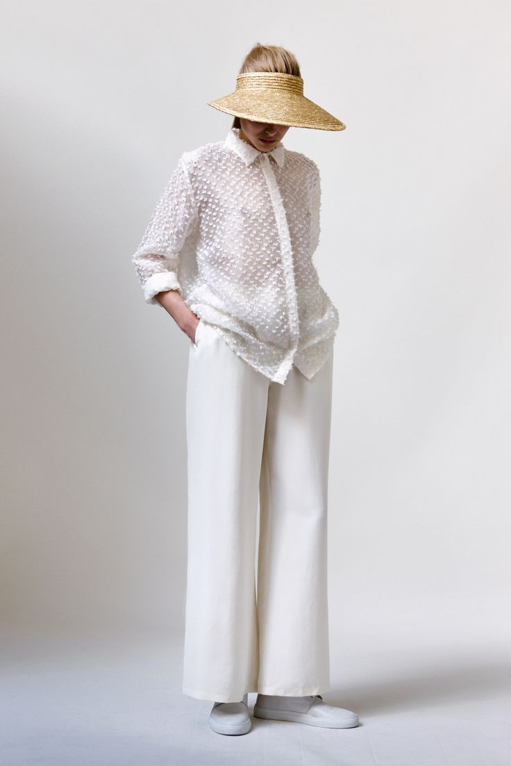 Shirly Shirt, Leiko Trousers, Open Head Hat and Leather Sneakers | Samuji SS16 Seasonal Collection