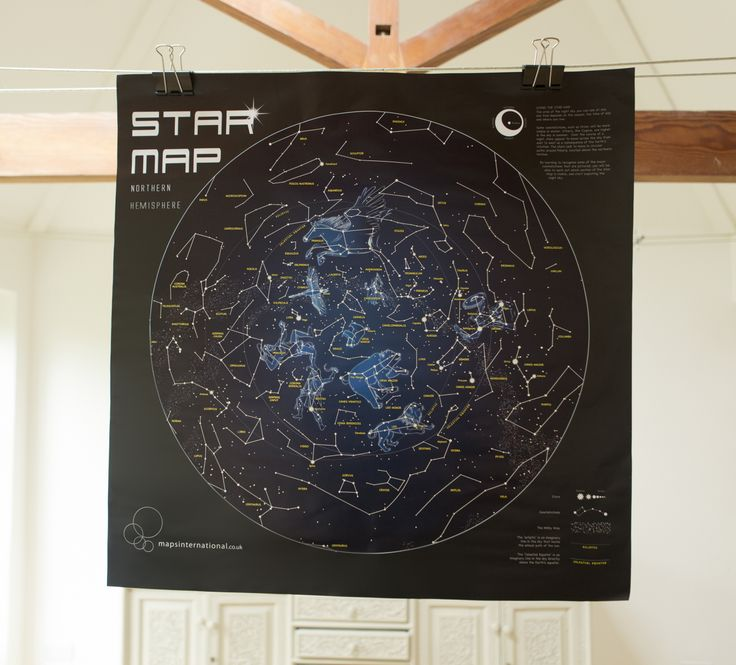 This Star Map looks fabulous during the