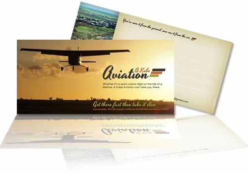A.Kube Aviation postcards. Designed by Phunkemedia Web & Graphic Design.