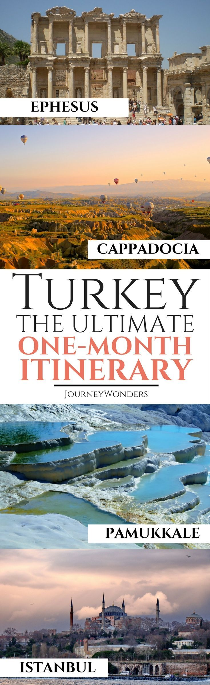 The best article for everything about One Month Turkey Itinerary | Turkey Travel Guide | Things to do in Turkey | Turkey Travel Tips | Turkey Photos | Where to Stay in Turkey | Turkey Tips and more via @journeywonders
