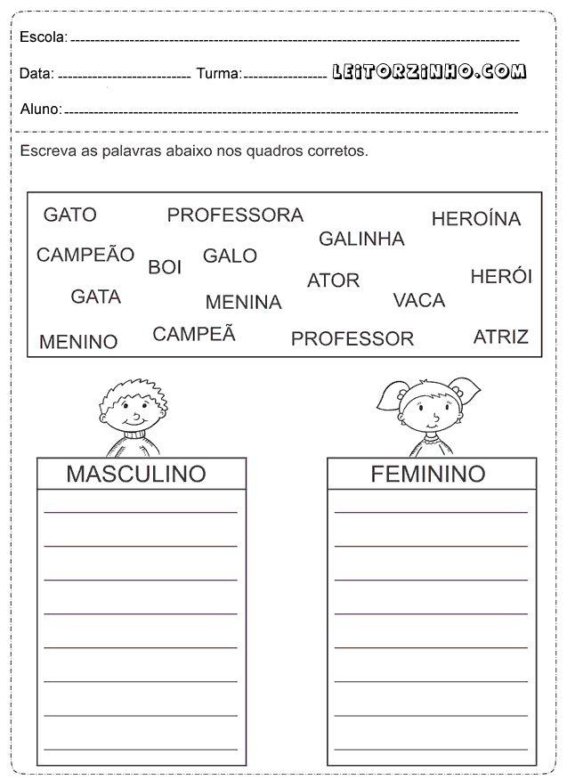 Leitores: Atividades de Português para o 1° ano