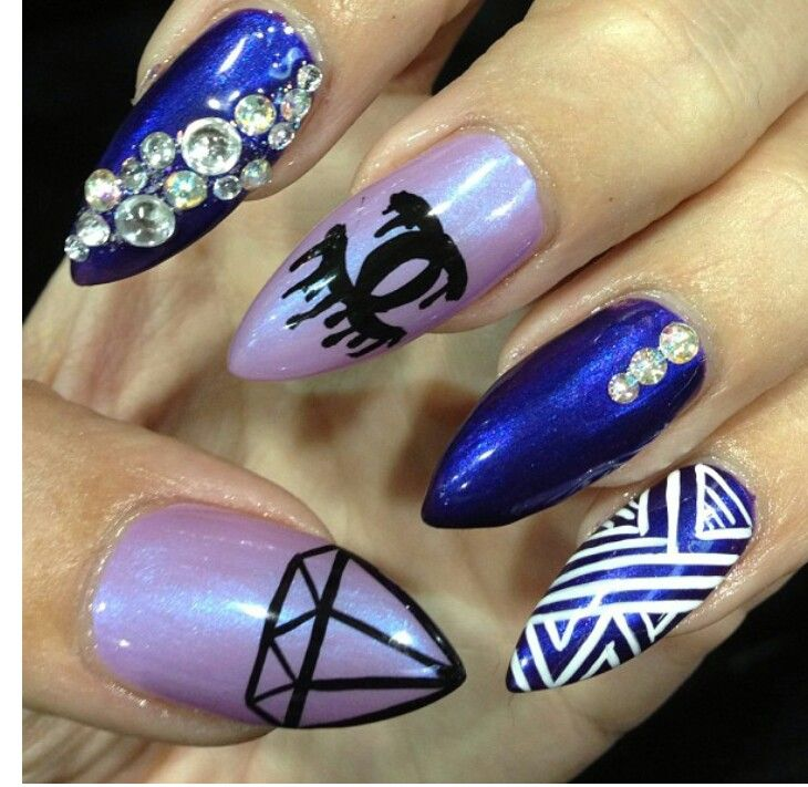 Pinterest nail designs 53 chanel nail swag design prinsesfo Image collections
