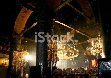 Greek church interior Royalty Free Stock Photo