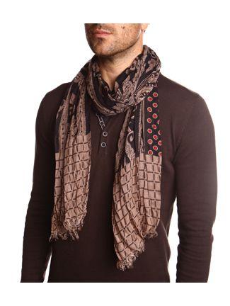 Echarpe homme motif cachemeire      DEVRED   Try It   Pinterest   Fashion  et Club f9bf318a9e5