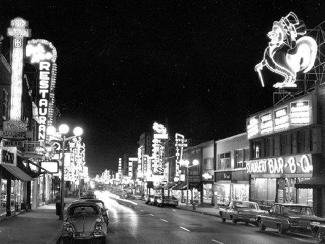 rue St-Hubert_Montréal_rôtisserie année 60