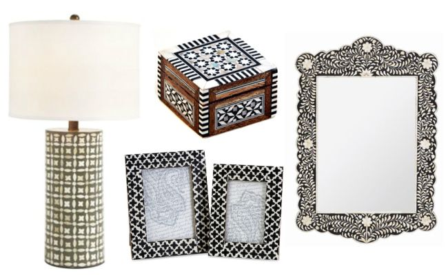 24 Bone Inlay Home Accessories from Katie Anderson of Modern Eve