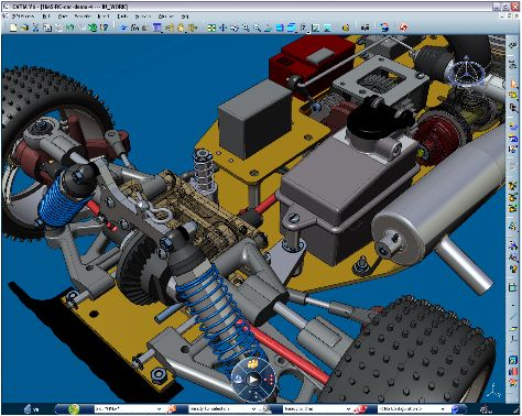 #CATIA more extensive, with a broad mathematical operation. In CATIA a complete factory, production line easily, you can design programs to swelling,   http://www.video-tutorials.net/vtnet/product-category/catia-video-tutorials/