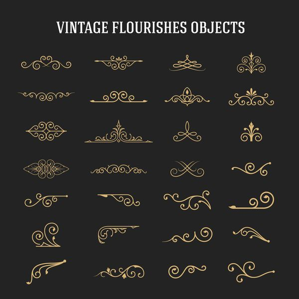 Vintage Flourishes Ornament Vector Free Eps File Vintage Flourishes Ornament Vector Download Name Vector Art Design Vintage Graphic Design Line Art Vector