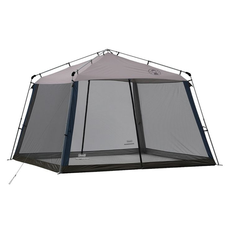 Coleman 11 ft. x 11 ft. Instant Screened Canopy, Blue/Grey