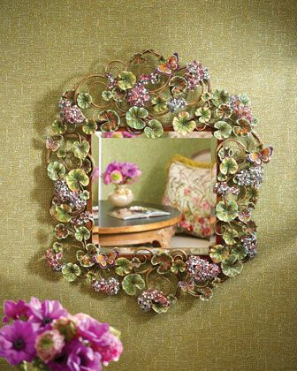 Beautiful Floral Scroll Wall Mirror http://rstyle.me/n/ebi7inyg6