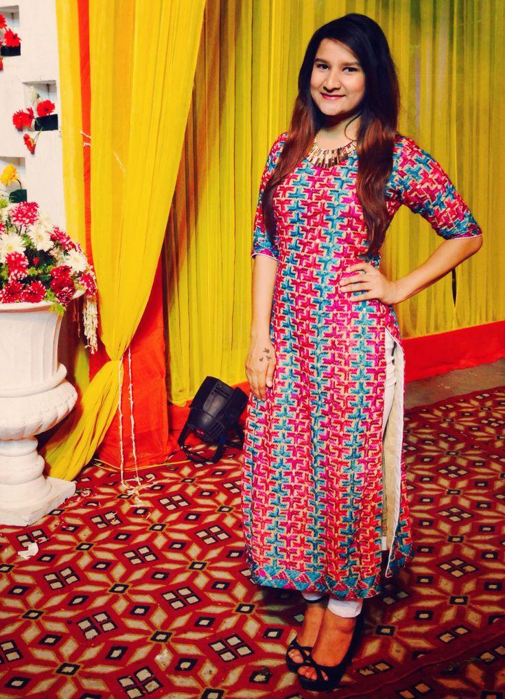 Phulkari shirt, Indian wear.