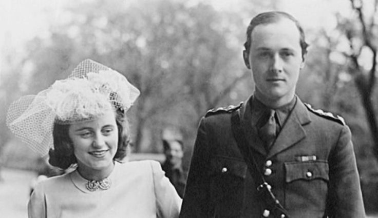 Kathleen and Billy on their wedding day, 1944. Thank you lancer-lace! This is beautiful!.( (She married Hartington on May 6, 1944 in a civil ceremony at the Caxton Hall Registry Office) ♡❤❤❤♡❤♡❤❤❤♡ http://en.wikipedia.org/wiki/Kathleen_Cavendish,_Marchioness_of_Hartington  http://en.wikipedia.org/wiki/William_Cavendish,_Marquess_of_Hartington