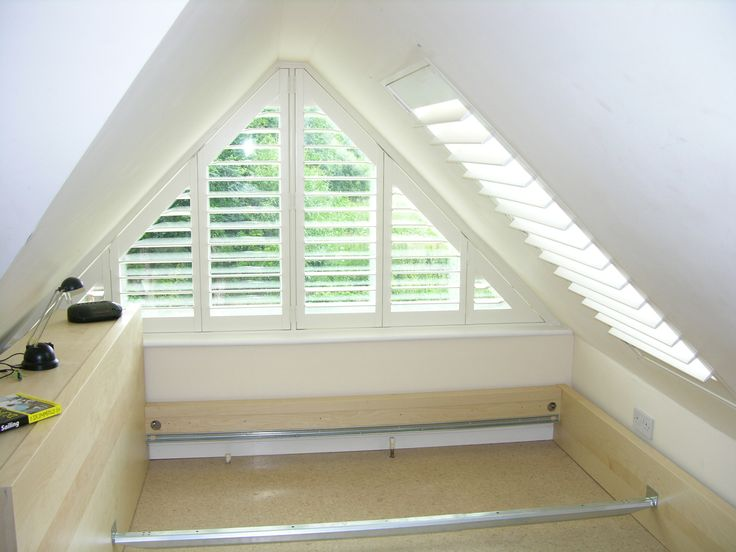 Triangle Windows Photos | ... - Supplying wooden window shutters for arched and triangle windows