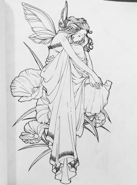 182 Best Images About Fairies Angels Coloring Pages On