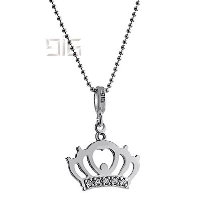 Silver pendant crown - available for order