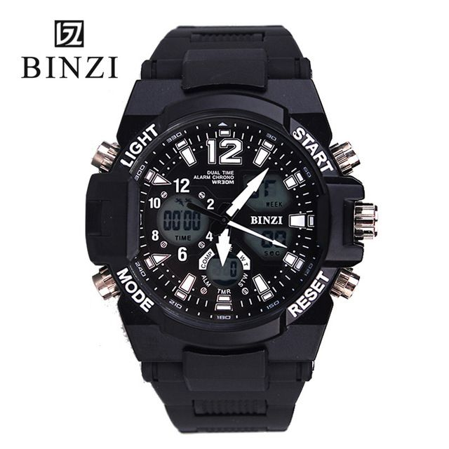 Brand Men Sports Watches Digital Waterproof Shock Dual Display Wristwatches Horloges Mannen Relogio Masculino Male wrist watch
