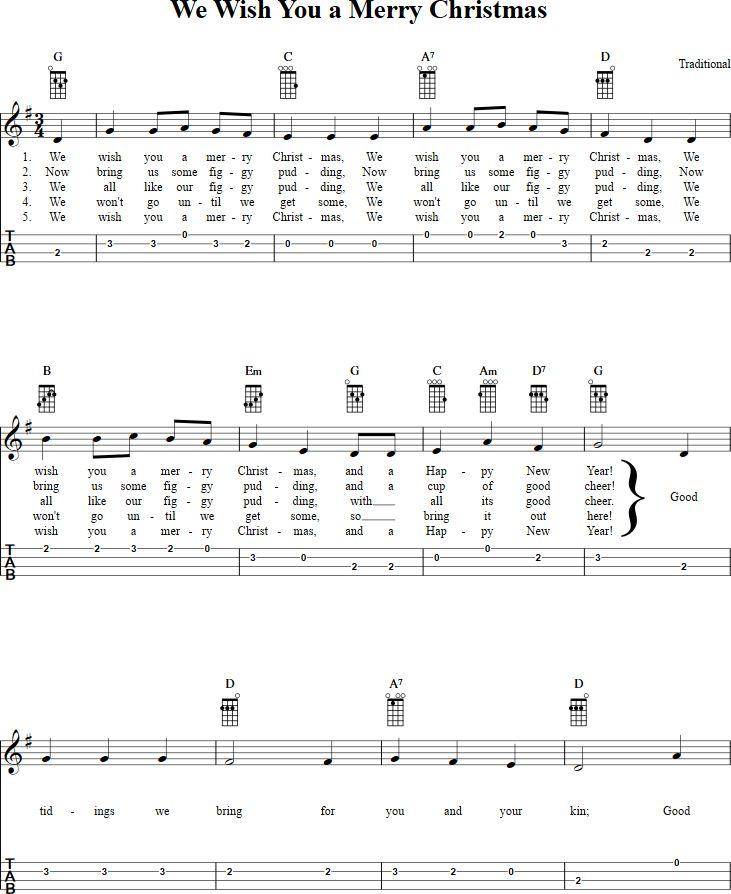 Christmas Carols Sheet Music For Ukulele - ukulele angels we have heard on high christmas carol ...