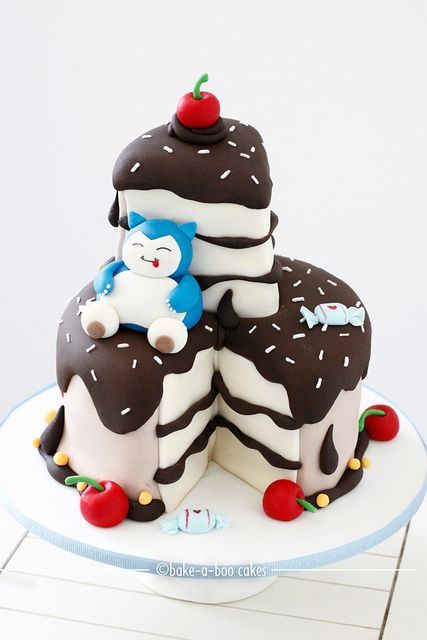 Snorlax loves cake! by Bake-a-boo Cakes NZ, via Flickr#Repin By:Pinterest++ for iPad#