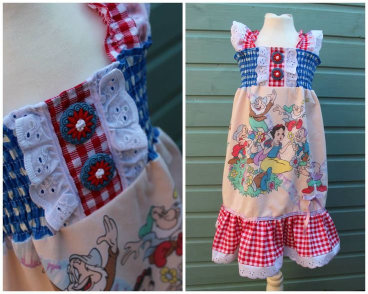 Stunning #SnowWhite dress by Junk Monkies feat. Bizzi Zizzi Daisy buttons :D