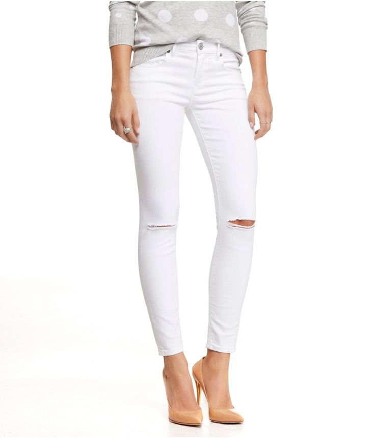 47 best images about How to Wear: White Jeans on Pinterest | Moto ...