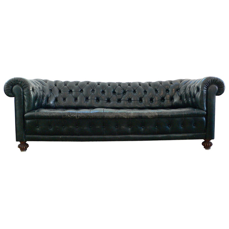 Vintage Black Leather Chesterfield Sofa: 17 Best Images About Sofa On Pinterest