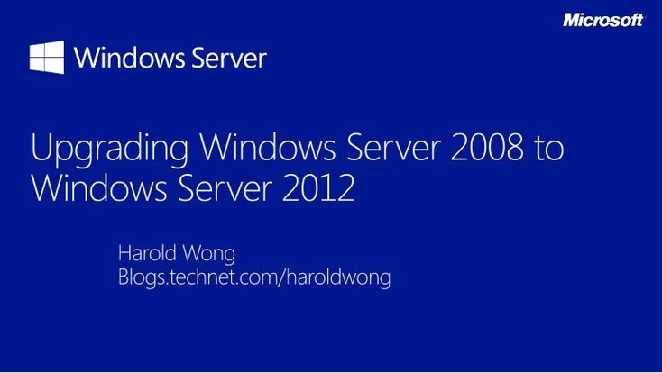 Upgrading Windows Server 2008 / 2008 R2 to Windows Server 2012. Topics include basic upgrades / migrations and Hyper-V scenarios.